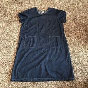 Blair XL Blue Denim Dress with Pockets
